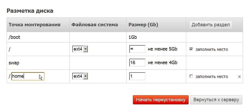 Автоматическая установка операционной системы на выделенные серверы