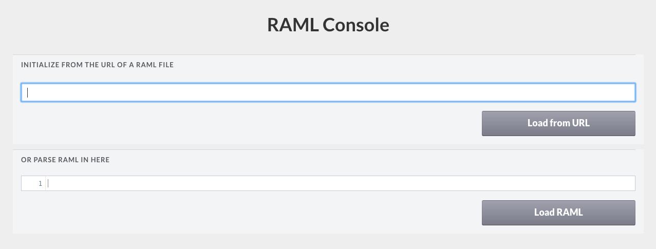 API Console