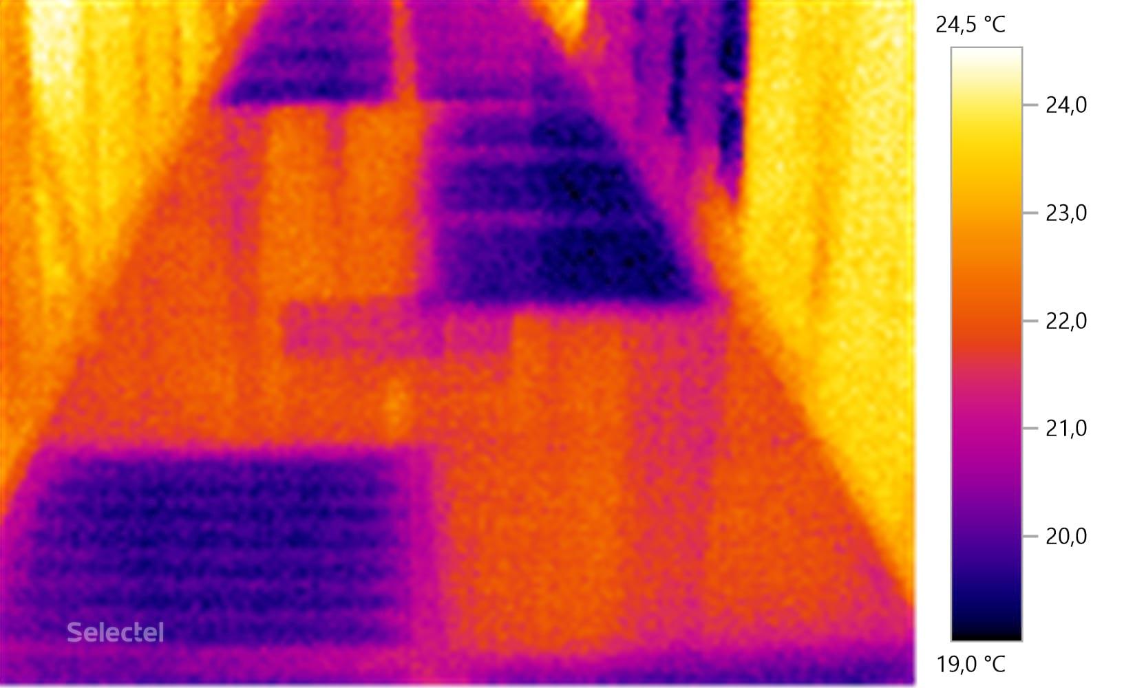 Термоснимок фальшпола