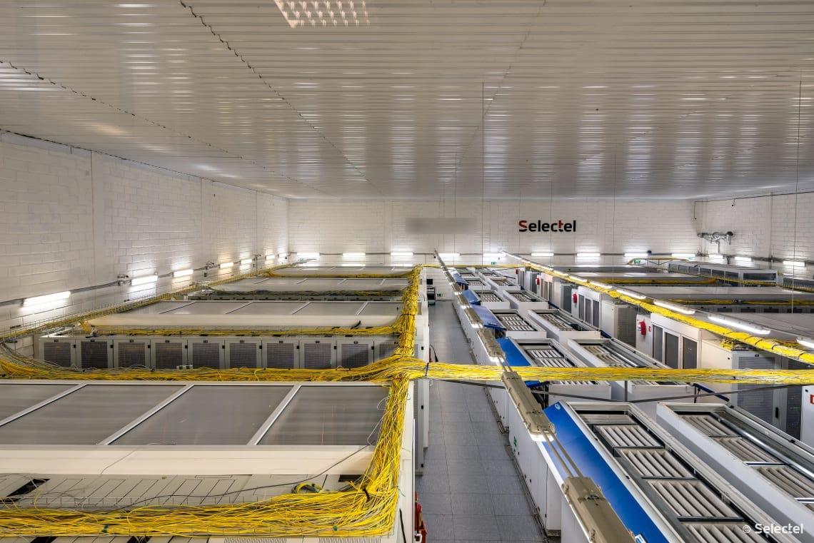 Кондиционеры в серверном зале дата-центра «Цветочная 1»