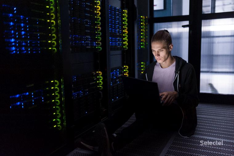 В серверной